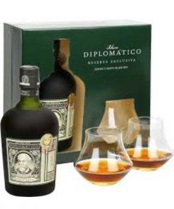 diplomatico rum reserva exclusiva bicchieri