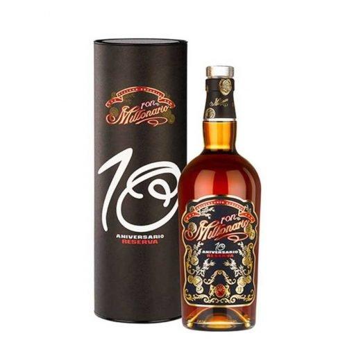 bottiglia rum millonario 10 y reserva